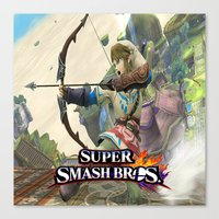 super smash bros Canvas Prints featuring Super Smash Bros by custompro