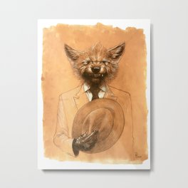 Young Wolf in a Suit Metal Print