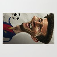 messi Area & Throw Rugs featuring Lio-N by Hanif