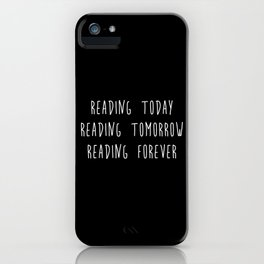Reading (inverted) iPhone Case