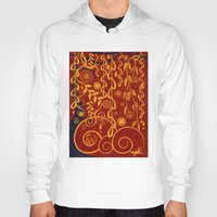 gustav klimt Hoodies featuring A Garden for Gustav by DebS Digs Photo Art