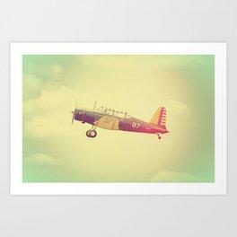 Retro Antique Fighter Plane // Airplanes Art Print