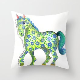 Caballo Serie amimales domésticos colombianos Throw Pillow