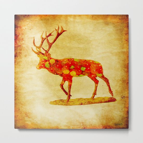 The deer candy Metal Print