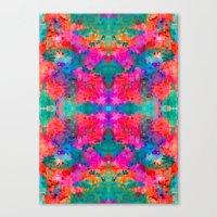 kaleidoscope Canvas Prints featuring Kaleidoscope by Amy Sia