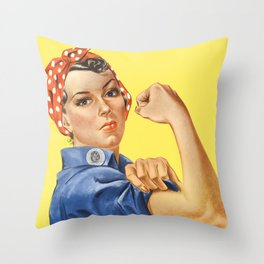 We Can Do It - Rosie the Riveter Poster Throw Pillow