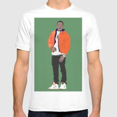 GUSTAVO FRING MODERN OUTFIT -  BREAKING BAD MEDIUM White Mens Fitted Tee