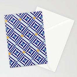 Blue Flowers // Diamond Pattern Stationery Cards