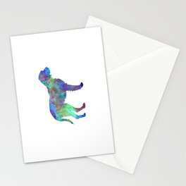 Fawn Brittany Griffon in watercolor Stationery Cards