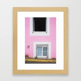 50. The Pink Wall, Bretagne, France Framed Art Print