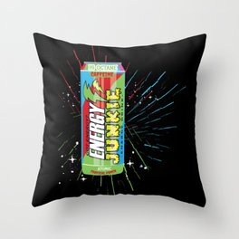 Energy Drink Throw Pillow