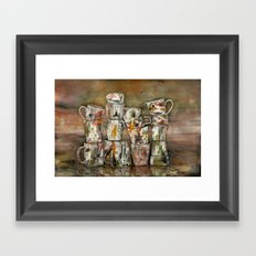 for washing dishes ! Framed Art Print