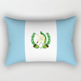 Flag of Guatemala- Guatemalan, Mixco,Villa Nueva,Petapa,tropical,central america,spanish,latine Rectangular Pillow