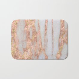 Aprillia - rose gold marble with gold flecks Bath Mat