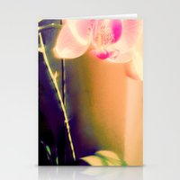 orchid Stationery Cards featuring orchid by Eva Lesko