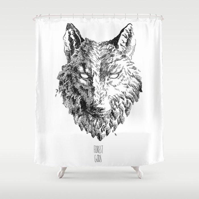 Forest Gods | Wolf Shower Curtain