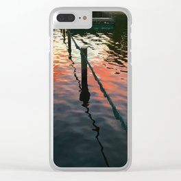 Sunset reflection on Severn River, Maryland Clear iPhone Case