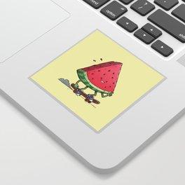 Watermelon Slice Skater Sticker