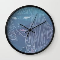 sushi Wall Clocks featuring SUSHI by beerreeme