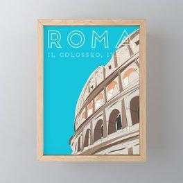 Rome, Italy Colosseum / Roma Il Colosseo, Italia Travel Poster Framed Mini Art Print