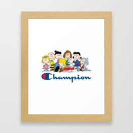 Snoopy and The Peanuts Gang Framed Art Print