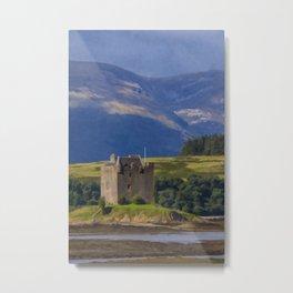 Castle Stalker Argyll, Scotland Metal Print