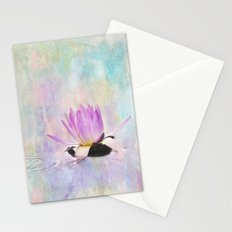 Painted Water Lily Stationery Cards