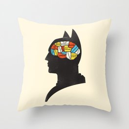 Bat Phrenology Throw Pillow