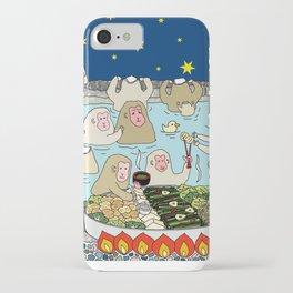 Snow Monkeys in Hot Spa iPhone Case