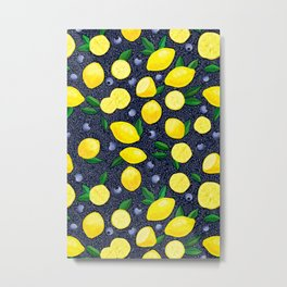 Lemon Blueberry Tart Metal Print