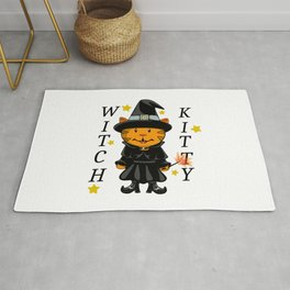 Witch Kitty Rug