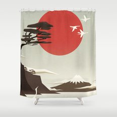 3 vacant logs Shower Curtain