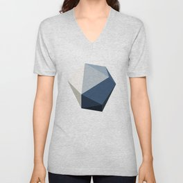 Minimal Geometric Polygon Art Unisex V-Neck