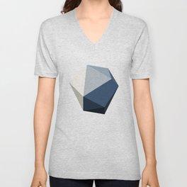 Minimal Geometric Polygon Art Unisex V-Neck