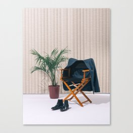 Director's Chair with Palm Canvas Print