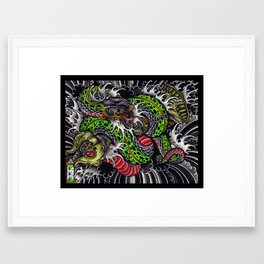 snake and vajra Framed Art Print