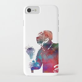 lacrosse sport art #lacrosse #sport iPhone Case