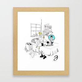 Skype Call Framed Art Print