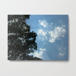 Luminescent Clouds Metal Print