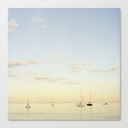 Crescent Beach Boats Canvas Print