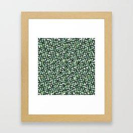 shapes and leaves Framed Art Print