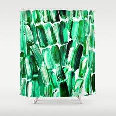 Green Sugarcane, Unripe Shower Curtain