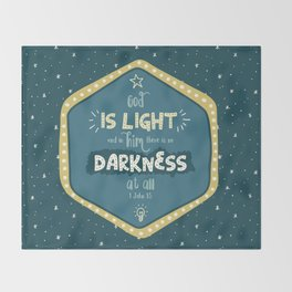 """""""God is Light"""" Hand-Lettered Bible Verse Throw Blanket"""