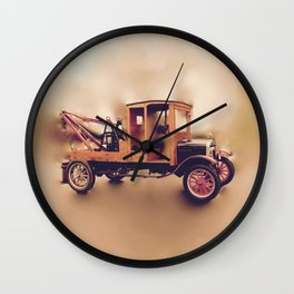 Vintage Model T Wrecker Wall Clock