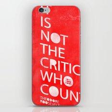 The Critic iPhone & iPod Skin