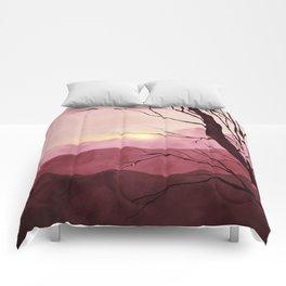 Sunset & landscape Comforters