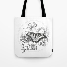 Faith & Butterfly Tote Bag