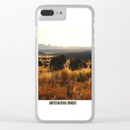 Sawtooth Mountains - New Mexico Clear iPhone Case