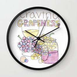 Craving Grapeness Wall Clock