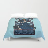 bioshock infinite Duvet Covers featuring Infinite Nouveau by Miss-Lys